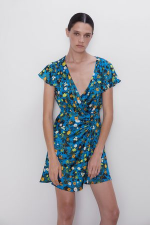 Zara Vestido mini estampado floral