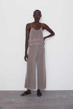 17e239ff99 Pantalones Anchos De Zara Compra 180 Productos Y Mujer Online¡compara  0Onw8Pk