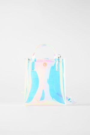 Zara Bolso mini shopper iridiscente