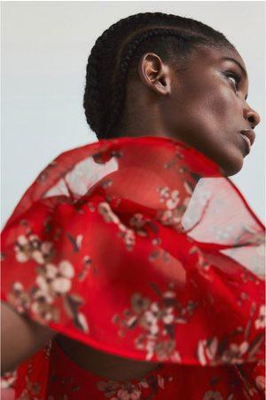 Zara Vestido estampado flor