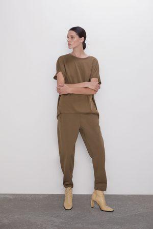 Zara Pantalón cintura elástica