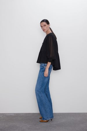 Zara Camiseta combinada cordones
