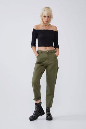 Pantalon Cargo De Zara Para Mujer Fashiola Es