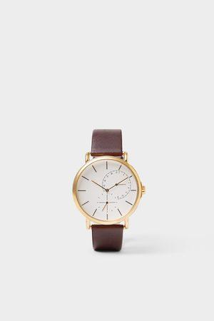 Zara Reloj look vintage pulsera piel