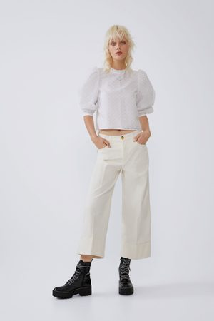 Zara Mujer Pantalones capri y midi - Pantalón cropped