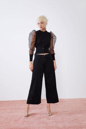 Zara Mujer Cintura alta - Jeans culotte hi rise