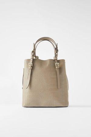 Zara Mujer Bolsos shopper y tote - Bolso shopper estampado animal