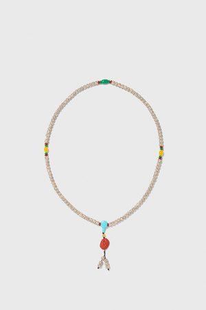 Zara Hombre Collares - Collar abalorios combinados