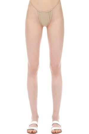 AEXAE Mujer Bikinis - Gathered Nylon & Lycra Bikini Bottoms