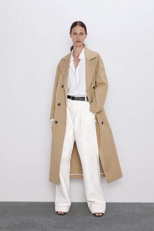 Zara Mujer Cintura alta - Jeans zw premium worker palazzo white