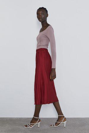 Zara Mujer Plisadas - Falda plisada
