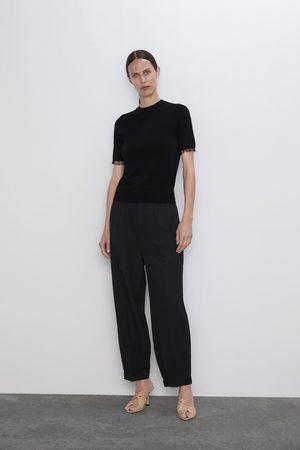 Zara Jersey combinado tul