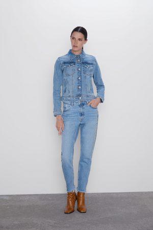 Zara Jeans z1975 mom fit banda joya