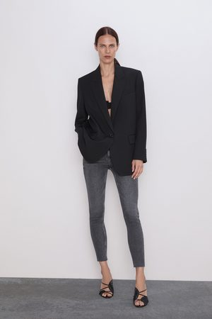 Zara Jeans zw premium 80's high waist inox black