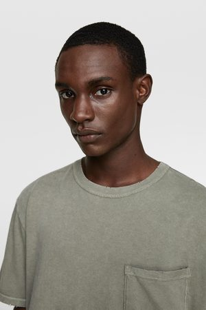 Zara Camiseta bolsillo