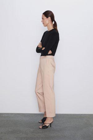 Zara Mujer Pantalones y Leggings - Pantalón bajo vuelta