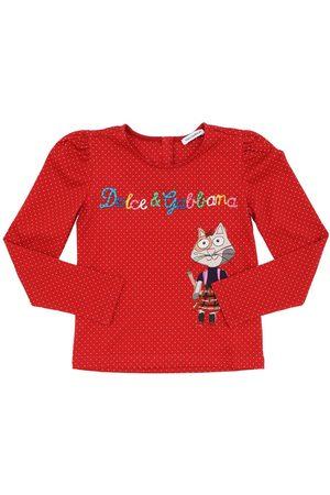 Dolce & Gabbana | Niña Camiseta De Algodón Jersey Con Manga Larga 6a