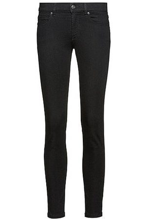 HUGO BOSS Mujer Cintura alta - Vaqueros super skinny fit CHARLIE en denim negro Magic Flex