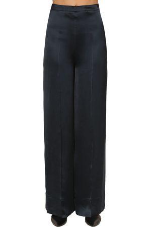 Jil Sander | Mujer Pantalones Palazzo De Satén De Viscosa 36