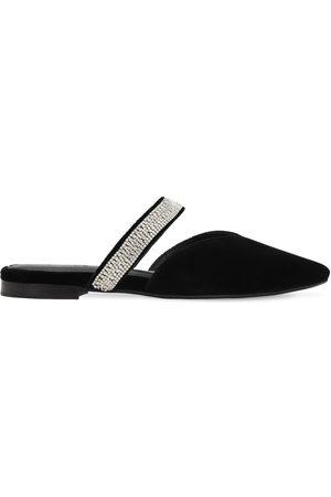 ZYNE | Mujer Zapatos Mules De Terciopelo Decorado 10mm 40