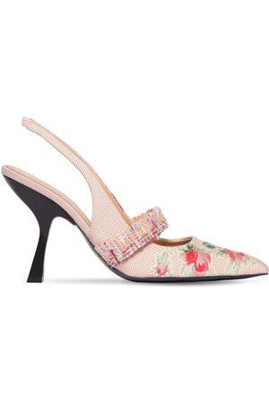 BROCK COLLECTION | Mujer Zapatos Pumps Destalonados Jacquard 100mm 40