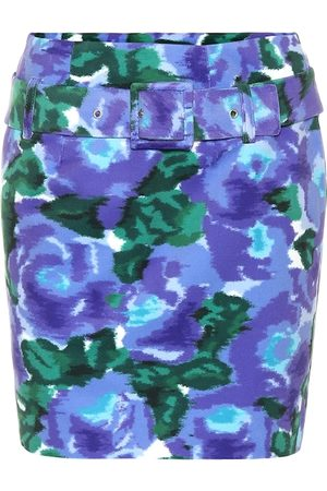 RICHARD QUINN Minifalda de terciopelo floral