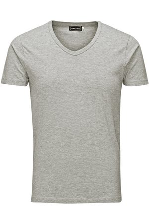 Jack & Jones Hombre Manga corta - Basic V-neck Regular Fit T-shirt Men Grey