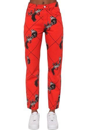 Kirin   Mujer Jeans De Denim De Algodón Con Estampado 24