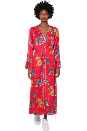 KIRIN | Mujer Vestido Midi De Satén Estampado /multi 38