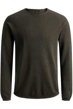 Jack & Jones Textured Knitted Pullover Men Green