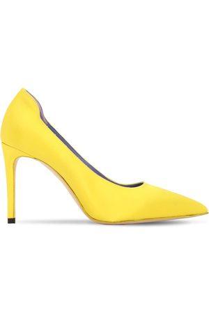 "Victoria Beckham Zapatos Pumps ""vb"" De Satén 90mm"