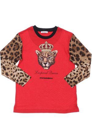 DOLCE & GABBANA | Niña Camiseta De Algodón Jersey Estampada 10a