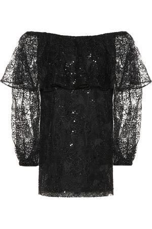 ROTATE Exclusivo en Mytheresa – vestido corto de encaje