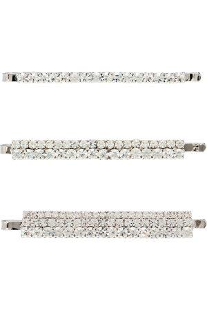 Alessandra Rich Set de 3 horquillas con cristales