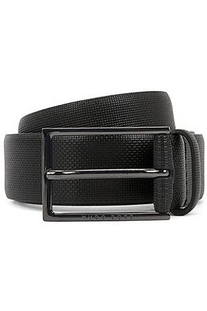 HUGO BOSS Hombre Cinturones - Cinturón de piel con detalle grabado