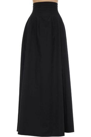Khaite | Mujer Falda Maxi De Popelina De Algodón 2