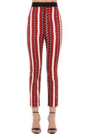 HAIDER ACKERMANN   Mujer Pantalones A Rayas Jacquard Con Cintura Alta 34