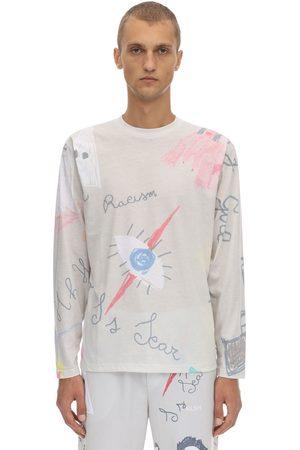 KLSH - KIDS LOVE STAIN HANDS | Hombre Camiseta De Algodón Jersey Estampada Manga Larga S