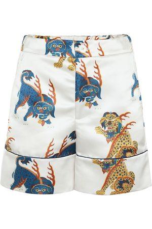 Kirin Shorts de satén anchos de tiro alto
