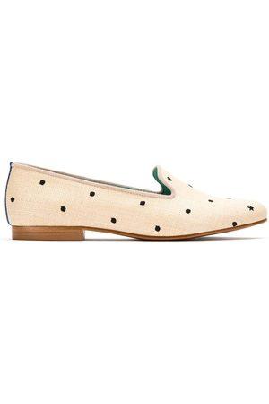 Blue Bird Slippers con diseño bordado