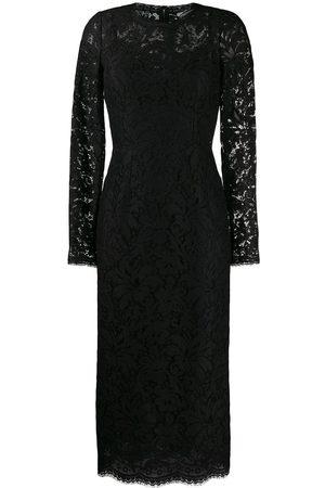 Dolce & Gabbana Vestido midi con encaje floral