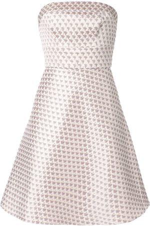 Bambah Vestido corto con motivo geométrico