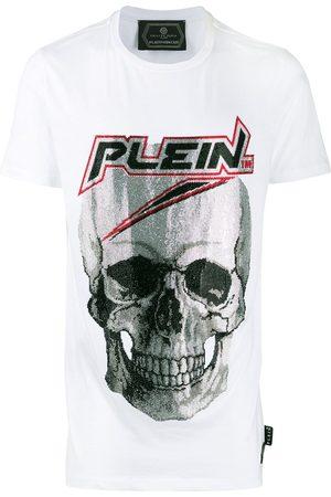 Philipp Plein Camiseta con calavera con detalles de strass