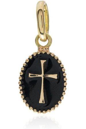 Gigi Clozeau Charm con detalle de cruz en oro de 18kt