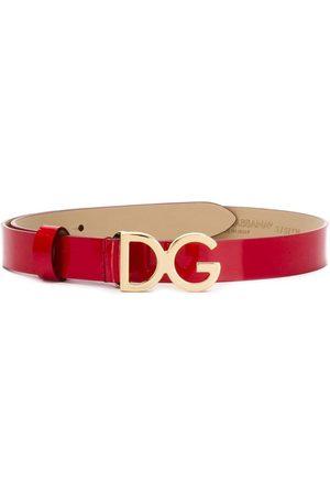 Dolce & Gabbana Niña Cinturones - Logo plaque belt