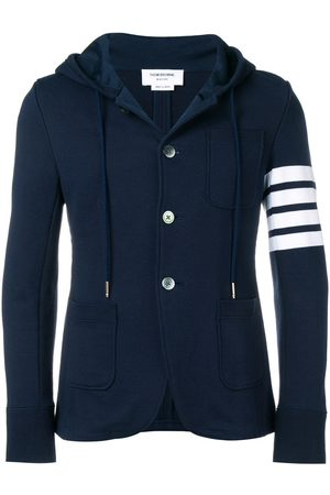 Thom Browne Hombre Chaquetas y polares - Abrigo deportivo con capucha y detalle de cuatro rayas