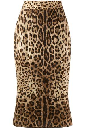 Dolce & Gabbana Falda con estampado de leopardo