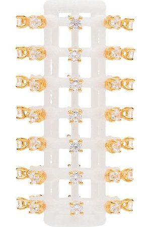 YVMIN Mujer Pendientes - Pendiente cilíndrico con cristales