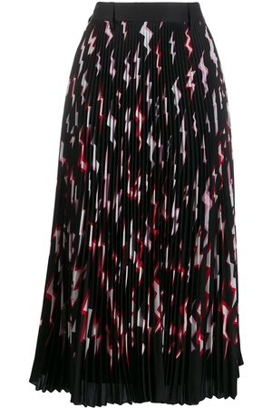Prada Falda plisada con motivo de rayos