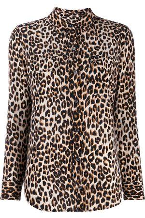 Equipment Mujer Estampadas - Camisa con estampado de leopardo